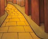 Brickroad by DANIEL MCKINLEY, Painting, Oil on canvas